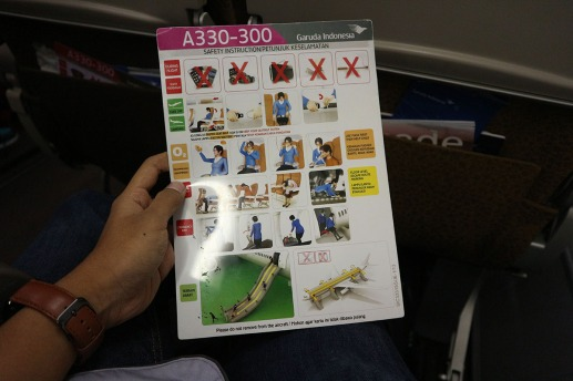 Safety Card A330-300